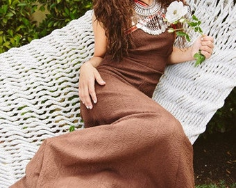 Vintage 1970s Hippie Style Halter Dress