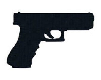 BUY 2, GET 1 FREE - Mini Pistol Gun Silhouette in 3 Sizes - 1 inch, 2 inch, 3 inch