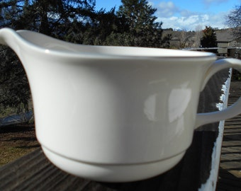 Lenox Chinastone 'For the Grey Patterns' Open Sauce Boat or Gravy Boat