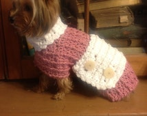 Crocheted Dog Coat - X-small ( Maid ) Swiffer Sweeper