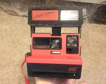 Vintage Polaroid Cool Cam 600 Camera Rare Red Colour