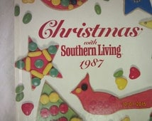 CIJ SALE Book Christmas with Southern Living 1987 recipes Bazaar Decorating for the Holidays Vintage