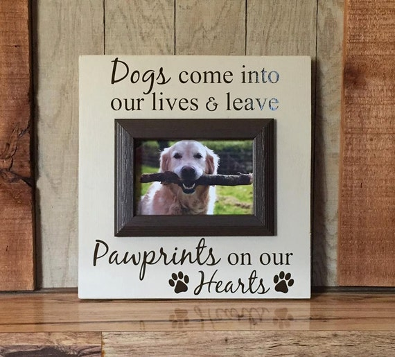 Picture Frame For Dogs Gift For Pet Lovers 4x6 Pawprints On