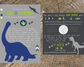 long distance baby showerboychalkboard x by jsdesigns on etsy, Baby shower invitations