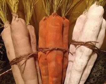 MADE TO ORDER Set of 3 Primitive Easter Carrots bowl fillers