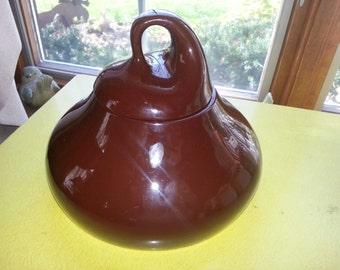 Vintage 1960s Brown Hershey Kiss Cookie Jar CUTE!