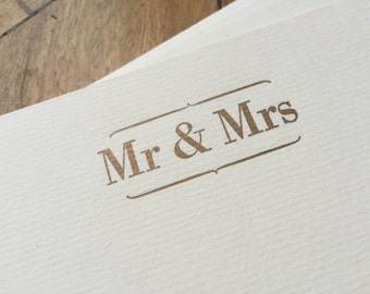 Mr and Mrs Letterpress Correspondence Cards