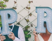 Vintage Style Marquee Lights for a Bride & Groom.