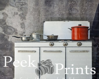 5ft.x5ft. In the Kitchen Vinyl Photography Backdrop- Vintage Kitchen Background