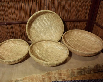 Vintage Chinese Bamboo  Baskets Set of 4