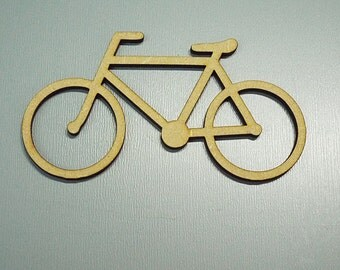 Pk of 1, 150mm High Bicycle   Quality 3mm MDF