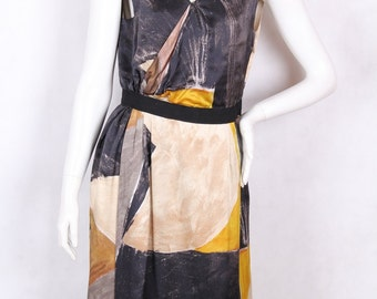 90s vintage silk summer dress by scapa size M