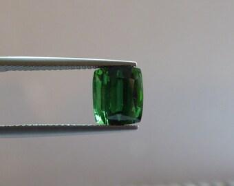4.34ct cushion cut green tourmaline