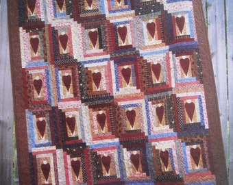 Hearts On The Square' Quilt Pattern By Kanesville Quilting