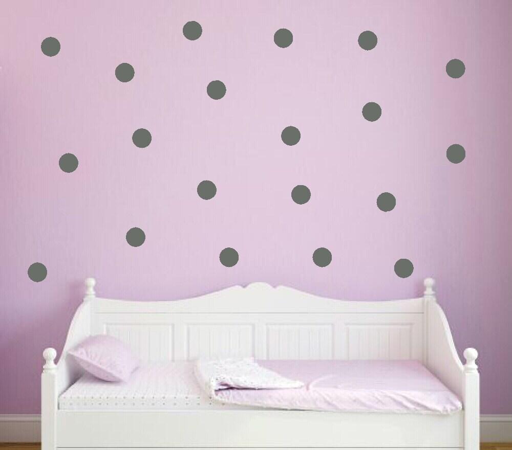 polka dot decals wall decal gold circle dots nursery wall dots. Black Bedroom Furniture Sets. Home Design Ideas