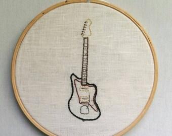 Embroidered Fender Jazzmaster Electric Guitar