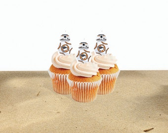 INSTANT DOWNLOAD BB-8 cupcake toppers (digital file)