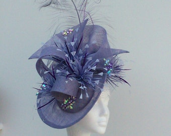 Stunning Fascinator in Cornflower Blue.  Weddings, Mother of the Bride, Race meetings, Royal Ascot, Kentucky Derby, Ladies Day