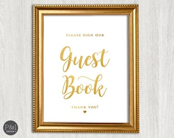 Sign our Guest Book | Wedding Signage | INSTANT DOWNLOAD (8x10)