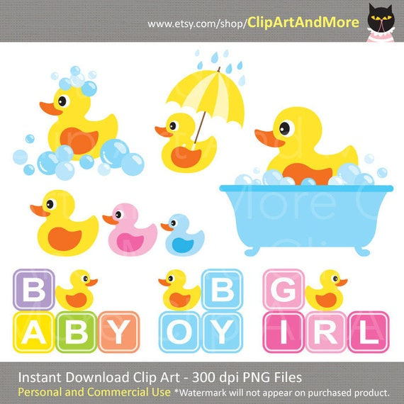 Yellow Rubber Duck Baby Shower Clipart Clip Art, Baby Boy Shower, Baby ...