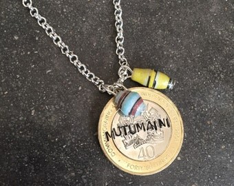 Kenyan Coin and Bead Necklace