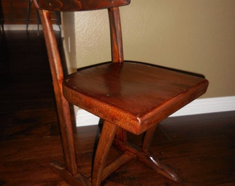 Refinished Kids Wooden Chair