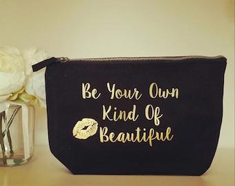 Personalised Make-Up Bag, Cosmetic Bag, Bridesmaid gift, Bridal Party Gift, Make up,