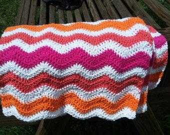 Sweet Tangerine- Crochet Baby Blanket