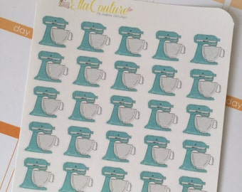 Aqua Mixer Planner Stickers by Ella Couture by Jessica