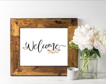 Welcome Farm Fall Print Printable Instant Download  Decor Frame Wall art