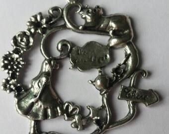 Alice in wonderland necklace, alice in wonderland pendant, alice in wonderland jewellery, alice in wonderland jewelry, alice in wonderland