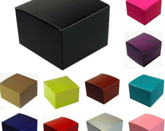 Color Gloss Candy Treat Favor Box - 3x3x2""