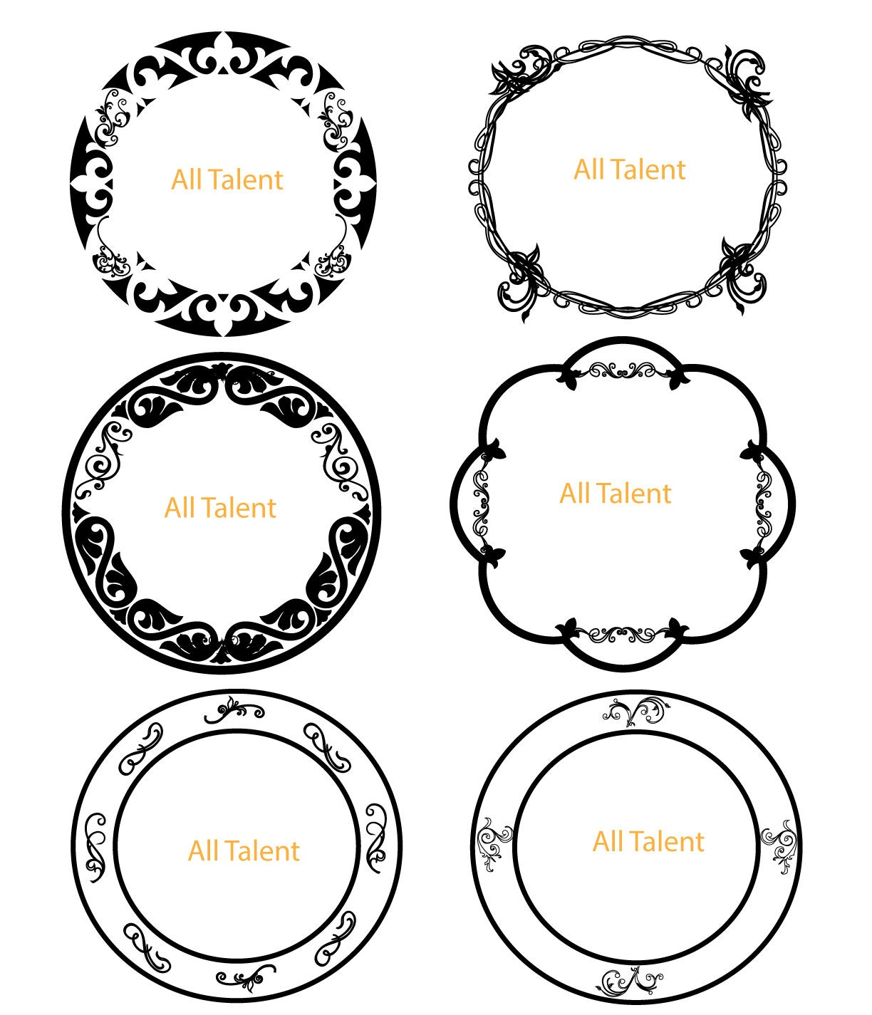 vintage clip art circle - photo #21
