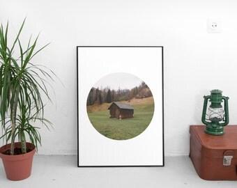 Austria Print, Circle Print, Circle Art, Austria Photography, Countryside Photography, Nature Print, Austria Art, Instant Download Art