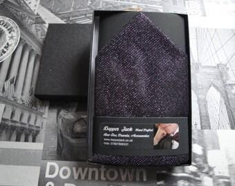 Pocket square, purple glitter pocket square