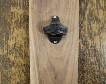Mounted Bottle Opener - OPEN HERE