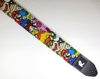 Video Game Guitar Strap - Popular Characters - Classic - Not A Licensed Item
