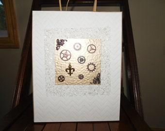 Steampunk Gift Bag - Industrial Design - Groomsmen Gift Bag
