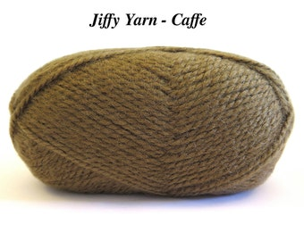 Brown Lion Brand Jiffy Yarn Caffe Mohair Look Craft Supplies