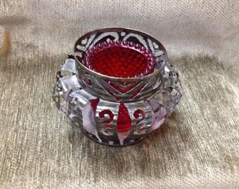 Cut Tin Can Art Votive, Folk Art Votive, Carved Pierced Tin Metal Candle Holder, Metal Art,  Tin Votive, Tin Tealight, Cut Tin Can Art