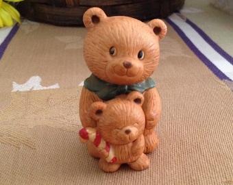 Avon Holiday Hugs Porcelain Bears, Avon 1990, Avon Porcelain Bears, Christmas Bears, Holiday Bears, Ceramic Bear Figurines, Bears