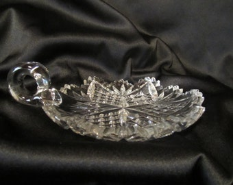 Vintage Cut Crystal Candle Holder