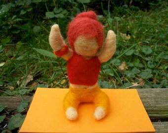 Yoga Girl, Yoga Figure, Needle Felted Figure