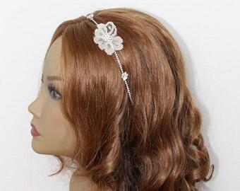 Bridal Ivory Hairband Bridal Headpiece Ivory Floral Headband Wedding Headpiece Bridal Hair Piece Bridal Accessories