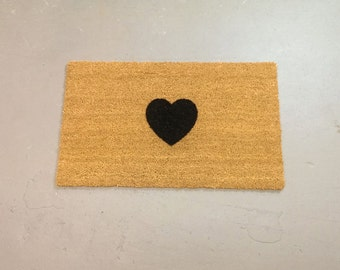 Heart Door Mat (size opts)
