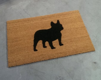 French Bull Dog Doormat (size opts)