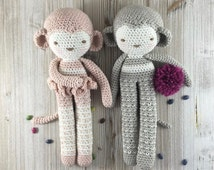 Cute  Monkey crochet plush, amigurumi monkey, monkey softie, kid toy, baby room decoration, MADE TO ORDER, Crochet Monkey, Soft Monkey,