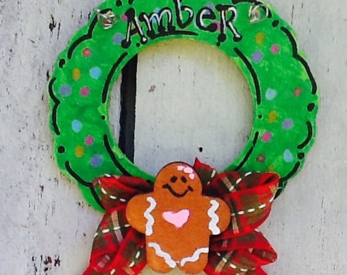 Gingerbread ornament, gingerbread gift tag, christmas ornament, christmas tree ornament, personalized christmas ornament, wreath ornament