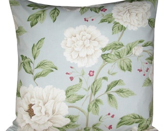 Sanderson Peony Tree Blue Cushion Cover