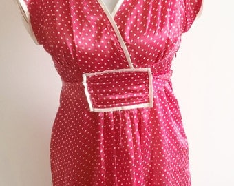Red and White spotty Retro dress